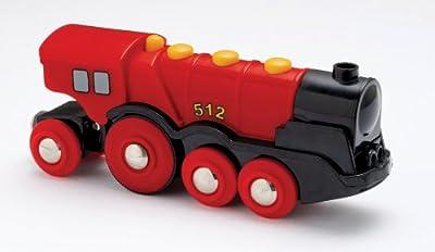 Brio 33223 - Locomotora a pilas con movimiento y sonido, color rojo por Brio