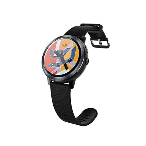 AIFB 4G anruf Smart Watch, Pulsmesser Pedometer Kalorienzähler Farbbildschirm Wasserdicht Fitness Tracker GPS Bluetooth für iOS Android Handy,Black-OneSize
