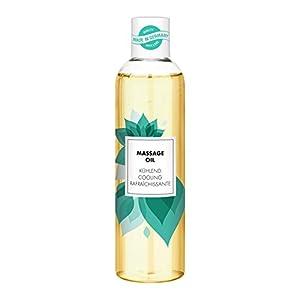 masaje relajante: Aceite de masaje aromático masajes relajantes, refrescante, aroma a menta, 250ml