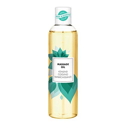 Olio per massaggi aromatico per massaggi rilassanti | olio per massaggi erotici | rinfrescante con aroma di menta | 250 ml