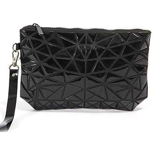 iBasteFR Sac de Rangement Portable de Haute qualité pour cosmétiques Rhombus - Sac de Voyage Pliable pour Femmes au Design Unique