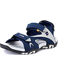 Sparx Men's Navy Blue and Grey Sandals (SS-453)