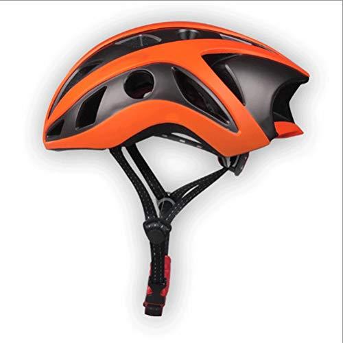 Zhanghongshop Helm für das Fahren von Rennrad Mountainbike-Ausrüstung (Color : ORANGE)