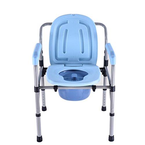 MyAou-commode Sièges de Toilette pour Les Femmes Enceintes Toilette Pliant Tabouret Chaise de siège pour Les Personnes âgées en Acier Plus épais