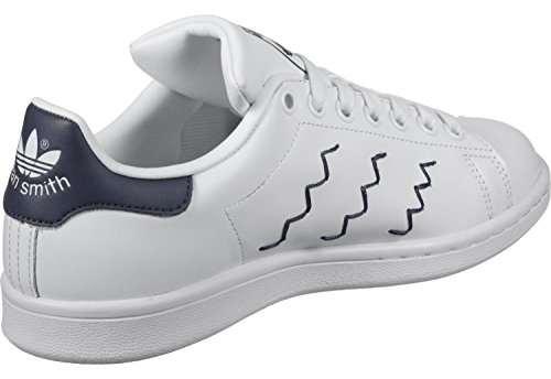 adidas Stan Smith W, Scarpe da Ginnastica Basse Donna Bianco (Footwear White/footwear White/trace Blue)