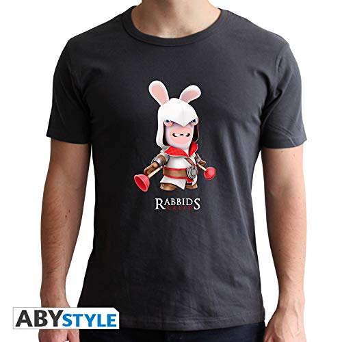 ABYstyle abystyleabytex370 _ M Raving Rabbids Spoof Creed T-Shirt für Mann - Raving Rabbid Kostüm