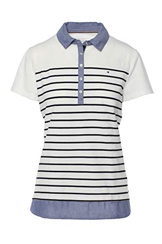Tommy Hilfiger Poloshirt, Polo, Damen Polo Shirt, Women's Polo, Large (Woman Tommy Hilfiger Polo-shirt)