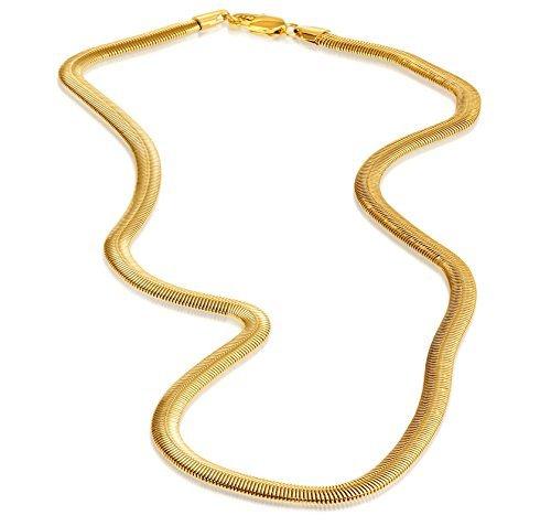 """Preisvergleich Produktbild Edelstahl Herren 's Gold Farbigen Schlangenkette 22"""""""