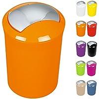 """Spirella Design Kosmetikeimer 10.14382 """"Sydney"""" mit Schwingdeckel 5 Liter (ØxH): 19 x 30 cm Orange"""