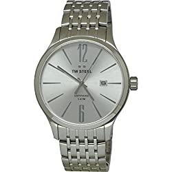 TW STEEL Men's Quartz Watch with Silver Dial Analogue Display and Silver Stainless Steel Bracelet TW1307