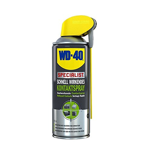 2 x 400 ml de WD 40 Specialist Contact Spray nettoyant contact électronique Spray Contact électronique Spray rapidement efficace Smart paille avec tête de pulvérisation intégré