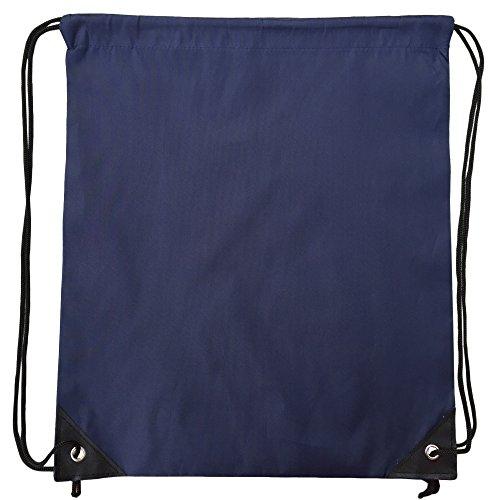 Premium Gym Sack drawstring Bag Turnbeutel Rucksack-Farben (Navy (Party Supplies Gymnastik)