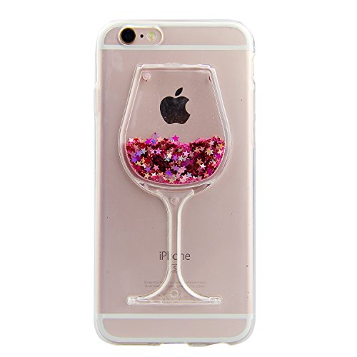iPhone 6S Plus / 6 Plus Ultra Dünn Slim Anti-Rutsch Flexible 3D Bling Glitter Glitzer Sparkle...