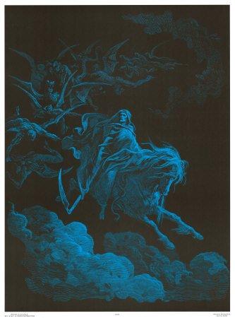 Schwarzlicht-Poster 'Death Rides a Pale Horse', Größe: 58 x 79 cm