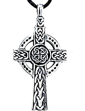 Keltisches Kreuz Anhänger aus 925 Sterling Silber mit Silberkette 41-66 cm
