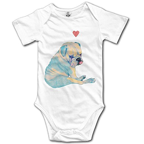 TKMSH Unisex Baby's Climbing Clothes Set Dog Bodysuits Romper Short Sleeved Light Onesies for 0-24 Months (Ref Kostüm Zubehör)