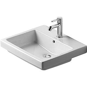 Instalación de lavabo Duravit Vero 550 mm, sin agujero para grifo, de colour blanco, 0315550060
