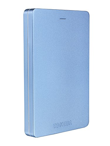 Toshiba Canvio Alu 1TB Externe Festplatte (6,4 cm (2,5 Zoll), 5400rpm, USB 3.0) blau