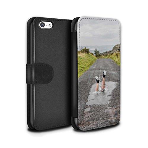 Stuff4 Coque/Etui/Housse Cuir PU Case/Cover pour Apple iPhone 5C / Fausse Alarme Design / Imaginer Collection Éclabousser