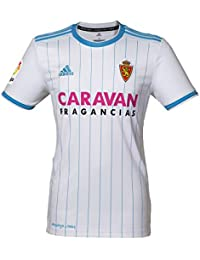 Adidas Real Zaragoza Primera Equipación 2018-2019 Niño, Camiseta, White-Light Blue