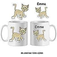 Texti-cadeaux-Mug Chat-personnalisé avec un prénom exemple Emma