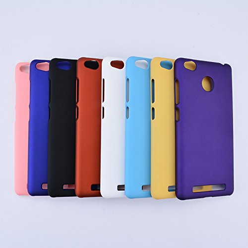 XIAOMI Case Cover Xiaomi Hongmi 3S Abdeckung, leichte dünne feste Farbe bereiftes Plasitc harter schützender rückseitige Abdeckungs-Fall für Xiaomi Hongmi 3S ( Color : Black , Size : Hongmi 3s ) White