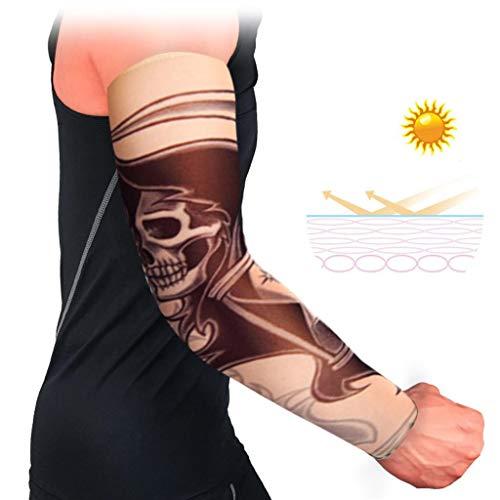 Zhuhuimin 3pcs Bandage Sonnenschutz Tattoo Ärmel UVSchutz Arm Ärmel Slip Manschetten atmungsaktiv Sport Stretch auslaufsicher Ärmel Armmanschette Nylon Full Slip