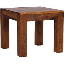 Wohnling WL1.204 - Mesa auxiliar (madera maciza, 45x45 cm)
