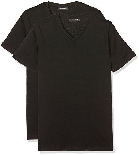 lagerfeld-herren-t-shirt-duo-pack-v-neck-2-schwarz-schwarz-990-medium-herstellergrosse-m