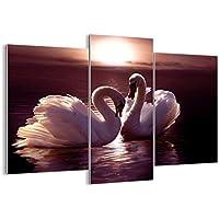 Quadro su vetro - tre 3 tele - larghezza: 130cm, altezza: 100cm - numero dell'immagine 0223 - pronto da appendere - elementi multipli - Arte digitale - Moderno - Quadro in vetro - GCB130x100-0223