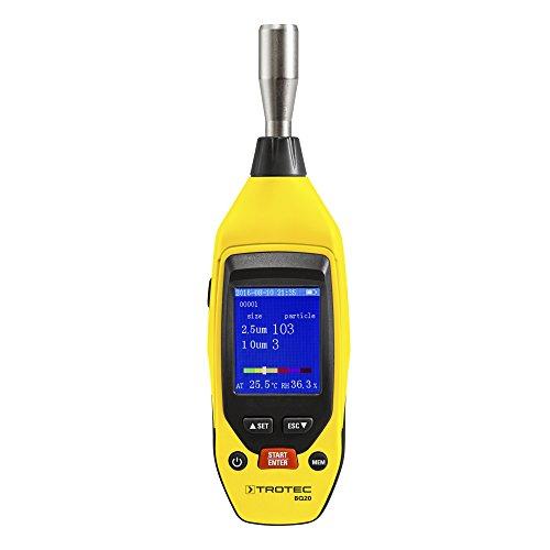 Preisvergleich Produktbild TROTEC Mini-Partikelmessgerät BQ20 für Feinstaub PM2.5, PM10, Lufttemperatur, Luftfeuchtigkeit