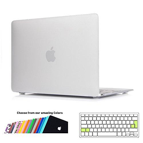 MacBook 12 Case Hülle,iNeseon Ultra Slim Plastik Hartschale Tasche Schale Cover mit EU Transparent Tastaturschutz Schutzhülle für Apple MacBook 12 Retina Modell:A1534(Frost Klar) -