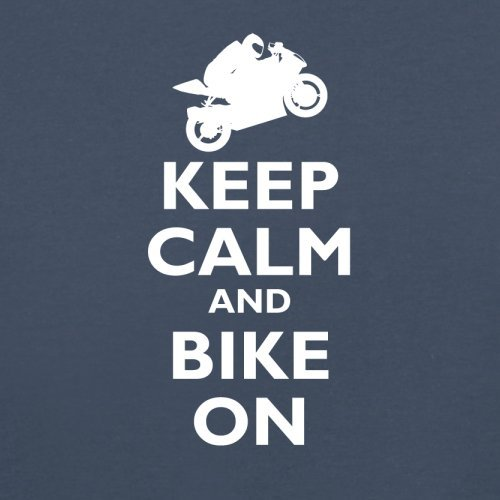 Keep Calm and Bike On - Herren T-Shirt - 13 Farben Navy