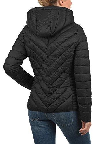 BLEND SHE Sienna Damen Steppjacke Übergangsjacke mit Kapuze aus hochwertiger Materialqualität Black (20100)
