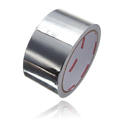 Gaeruite Ruban adhésif de papier d'aluminium,5CM x 17M, bande adhésive de cachetage Résistance à la chaleur de réparation de bande de papier d'aluminium résistant à hautes températures de bande