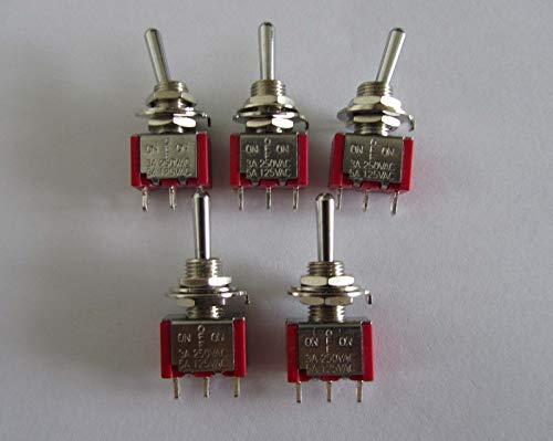 FidgetGear 5 interruptores SPDT de 3 vías para encender y Apagar Guitarra,...