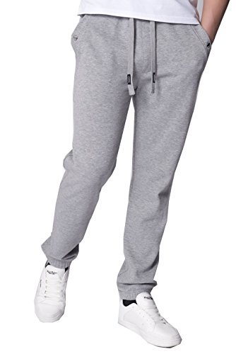Kangol Herren Jogginghose Jogginghose Fitness Trainingsanzug Hosen Mit Saum Mit Manschetten Grau