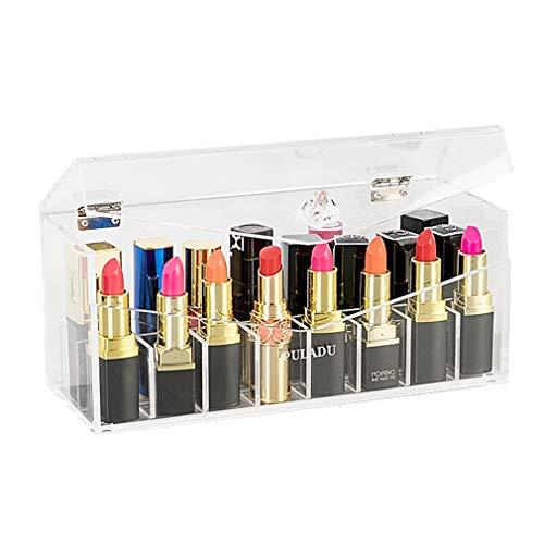 Support de Rouge À Lèvres, Organisateur de Présentoir de Rouge À Lèvres en Acrylique Avec 24 Espaces (Couleur : Clair)