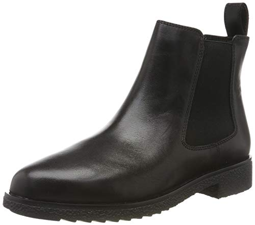 Clarks Griffin Plaza, Botas Chelsea para Mujer, Negro (Black Leather Black Leather), 39 EU