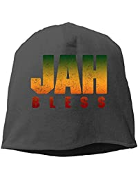 MLNHY Jah Bless Rasta Flag Reggae Roots Winter Beanie Skull Cap Warm Knit Ski Slouchy Hat