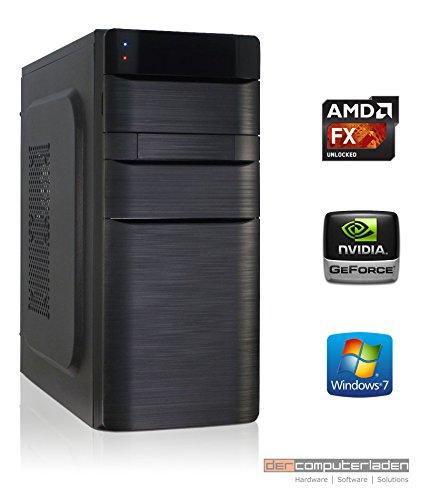 Office PC K11 AMD, FX-4300 4x3.8 GHz, 8GB DDR3, 1TB HDD, GT710 1GB, Windows 7 Büro Computer zusammengestellt in Deutschland Desktop Rechner