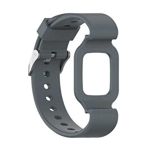 Knowin Uhrenarmband Ersatz Großes Silikonarmband Uhrenarmband Armband für Huawei Kinderuhr 3 Unisex Silikon Schnellspanner Uhrenarmband (Pebble-uhr-ersatz-akku)