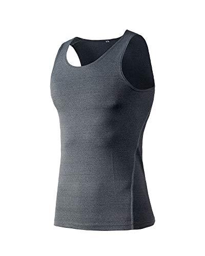 Yanlian Herren Sportswear Quick Dry Sleeveless Sports Tank Tops Tanktops Sportbekleidung Fitness Running Yoga & Pilates Grau L