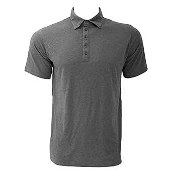 Canvas Jersey 5 Button Polo Shirt : Color - Dark Grey Heather : Size - S