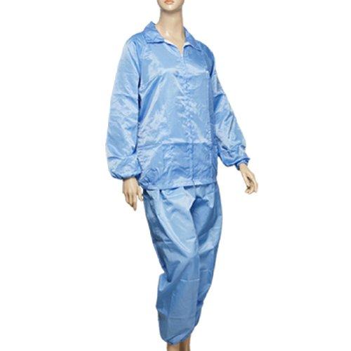 Erwachsene schwarz Slim Stripe Blau Antistatik ESD Coat Pants L (Stripe Pant Slim)