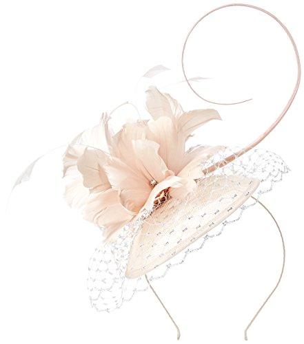 Jacques Vert Women's Feather Flower Fascinator Headband, Beige (Neutral), One Size