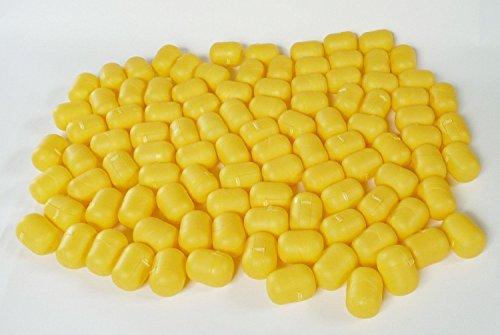 Preisvergleich Produktbild Kinder Überraschung, 100 Ü-Ei Kapseln am Steg in GELB. Stabile allround Kapseln aus dem Ü-Ei von Ferrero)