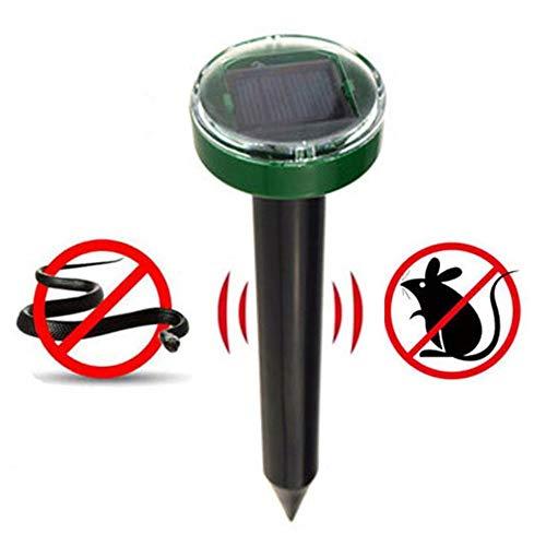 Mesigu Solar Mole Repeller, Nagetierkontrolle, stößt Nagetiere, Maulwürfe, Gopher, Mäuse, Schlangen für Rasen und Garten ab Schutz von Graspflanzen - Mole Repeller