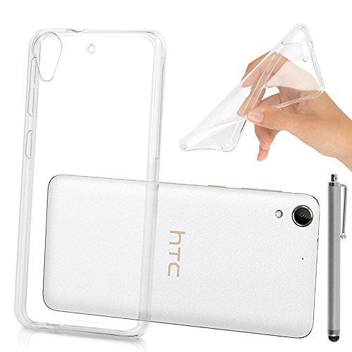 HTC Desire 728 dual sim/ 728G dual sim Étui HCN PHONE® Coque Silicone Gel Souple Ultra Fine pour HTC Desire 728 dual sim/ 728G dual sim + stylet - TRANSPARENT