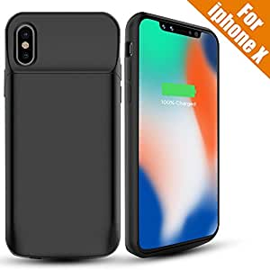 iphone x akku h lle snowkids 6000mah externes elektronik. Black Bedroom Furniture Sets. Home Design Ideas